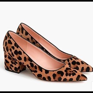 J Crew Laney pumps in leopard calf hair